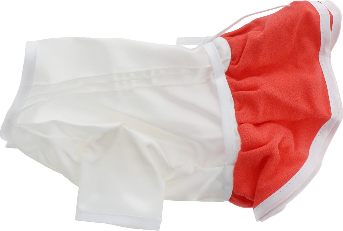 Платье для собак Pret-a-Pet Летнее ассорти, цвет: красный. Размер SMOS-022-SПлатье для собак Pret-a-Pet Летнее ассорти выполнено из высококачественного текстиля и оформлено надписью PretaPet. Короткие рукава не ограничивают свободу движений, и собачка будет чувствовать себя в ней комфортно. Изделие застегивается с помощью кнопок на животе, а также дополнительно имеет завязки на спинке.Модное и невероятно удобное платье защитит вашего питомца от пыли и насекомых на улице, согреет дома или на даче.К платью прилагаются запасные кнопки.Длина спины: 23-25 см.Объем груди: 31-33 см.Одежда для собак: нужна ли она и как её выбрать. Статья OZON Гид