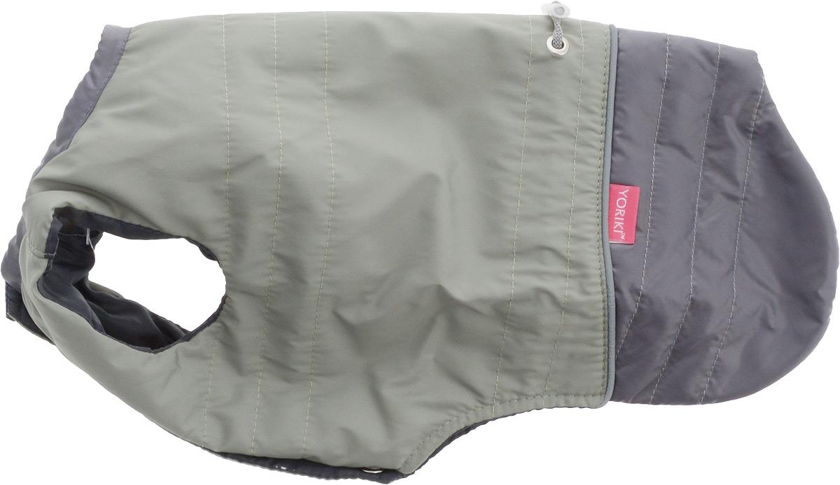 Попона для собак Yoriki, унисекс, цвет: зеленый. Размер 29454-28Попона для собак Yoriki отлично подойдет для прогулок в холодное время года. Попона изготовлена из водоотталкивающего полиэстера, защищающего от ветра и осадков. Утеплитель из вискозы сохранит тепло и обеспечит уют во время зимних прогулок.Попона не имеет рукавов, поэтому не ограничивает свободу движений, и собака будет чувствовать себя в ней комфортно. На животе имеются застежки-кнопки, а спинка дополнена утягивающим шнурком. Светоотражающие элементы обеспечивают безопасность в темное время суток.Благодаря такой попоне питомцу будет тепло и комфортно в холодное время года. Длина спины: 28-30 см.Одежда для собак: нужна ли она и как её выбрать. Статья OZON Гид