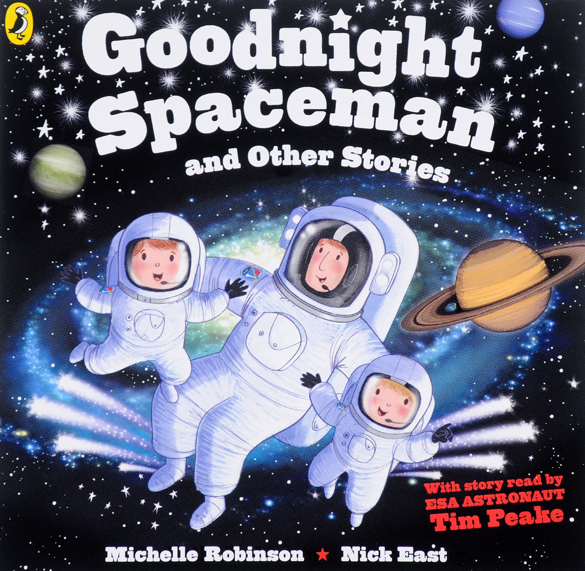 Goodnight Spaceman and Other Stories (аудиокнига MP3) little owl says goodnight slide and seek board bk