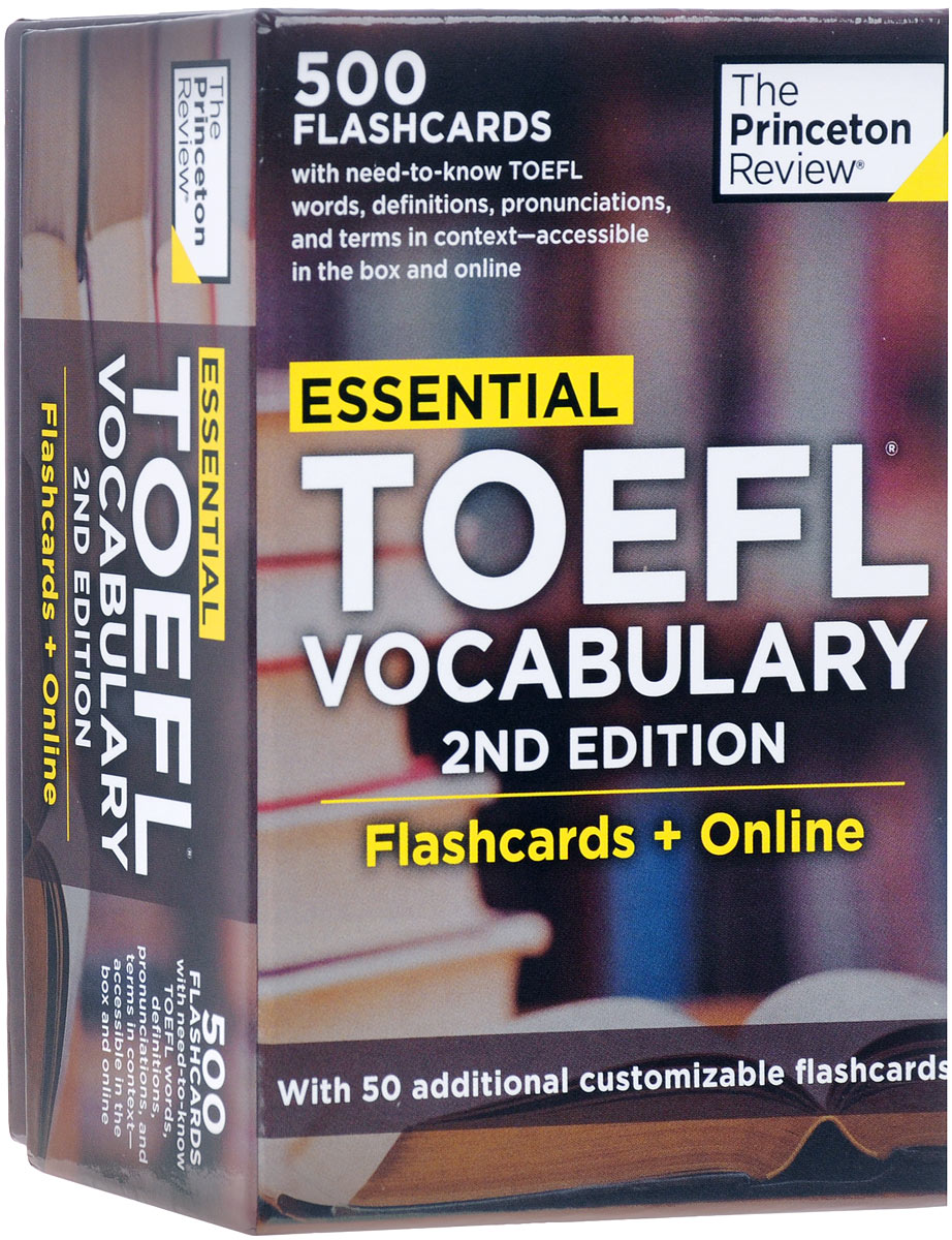 Essential TOEFL Vocabulary (500 Flashcards + Online) essential spanish vocabulary