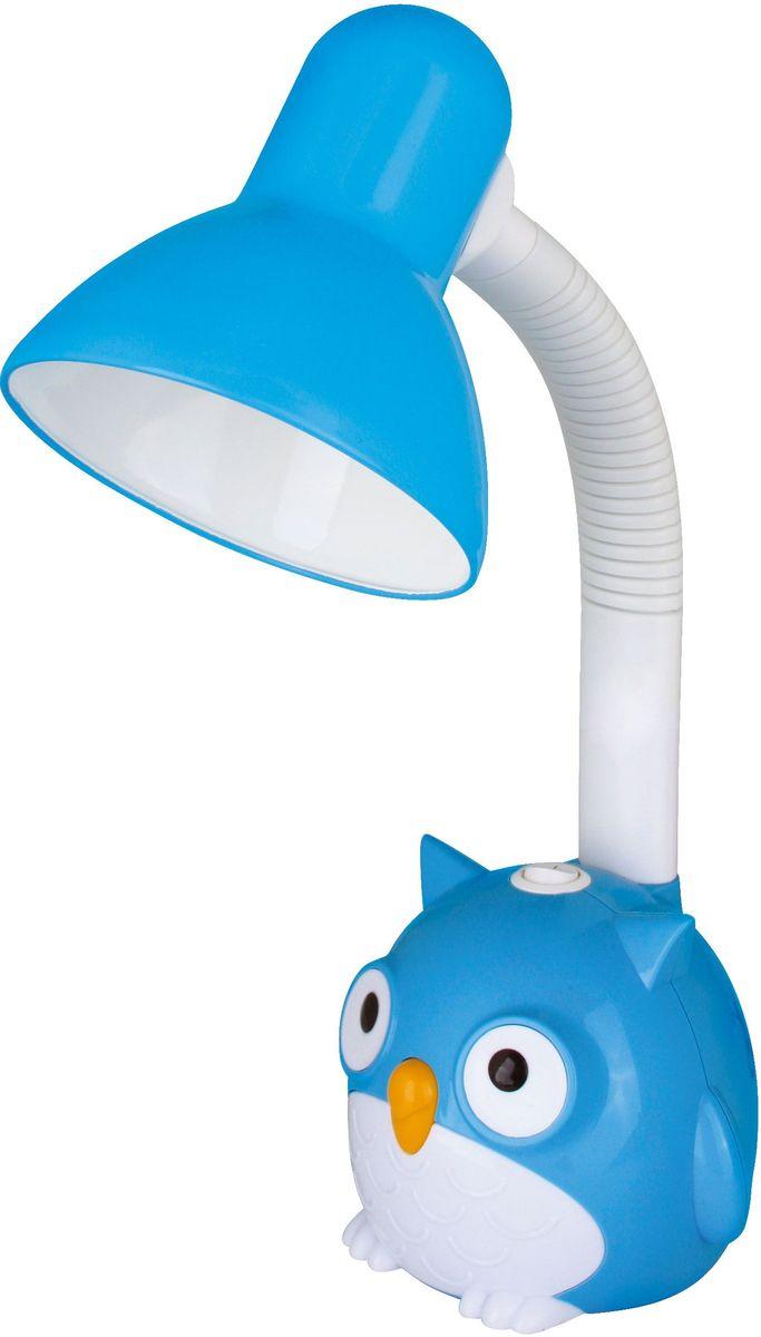 Светильник настольный детский Camelion Сова, цвет: голубой, 230В, 40Вт, E27. KD-380 C0612605Настольный детский светильник Camelion - яркое решение для местного освещения в детской комнате, на письменном столе школьника. В светильниках используются безопасные и качественные материалы, возможность использования в качестве источника света любую лампу мощностью до 40 Вт (Е27).
