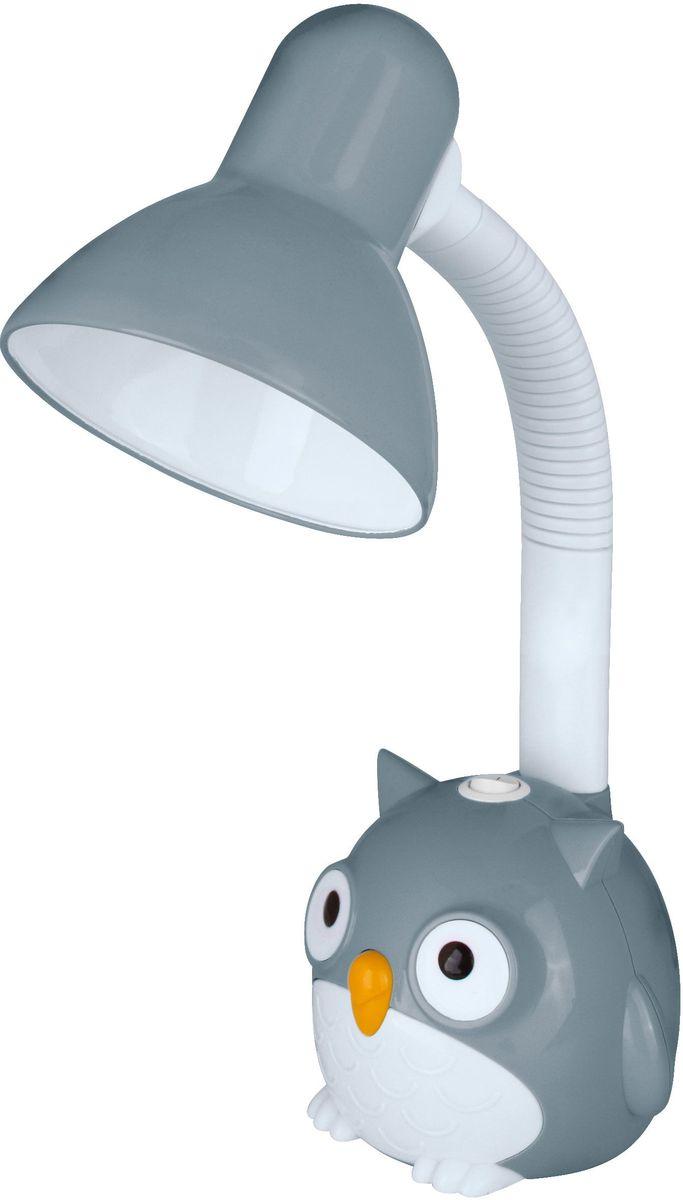 Светильник настольный детский Camelion Сова, цвет: серый, 230В, 40Вт, E27. KD-380 C09 светильник настольный camelion kd 786 c05 зелёный led 5 вт 4000к