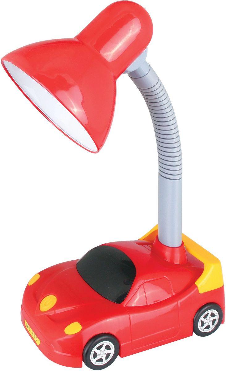 Светильник настольный детский Camelion Машинка, 230В, 40Вт, E27. KD-383 C0412610Яркое решение для местного освещения в детской комнате, на письменном столе школьника. В светильниках используются безопасные и качественные материалы, возможность использования в качестве источника света любую лампу мощностью до 40 Вт. (Е27)