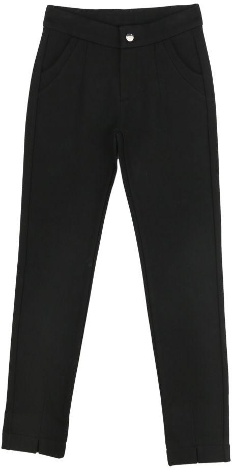 Брюки для девочки Vitacci, цвет: черный. 2171219F-03. Размер 1342171219F-03Классические утепленные брюки стрейч Vitacci выполнены из вискозы и нейлона с добавлением эластана. Модель застегивается на гульфик с молнией и пуговицу. Спереди расположены два втачных кармана.