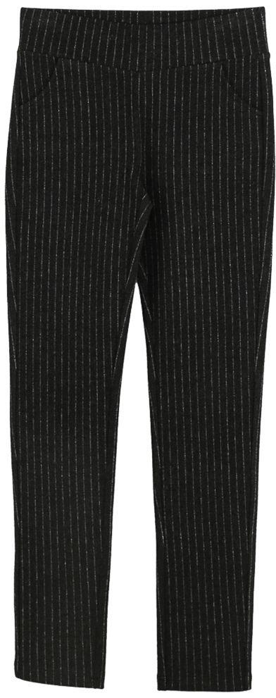 Брюки для девочки Vitacci, цвет: серый. 2171238-02. Размер 1342171238-02Классические брюки стрейч для девочки выполнены из вискозы и нейлона с добавлением эластана. Пояс снабжен широкой эластичной резинкой, которая обеспечивает комфортную посадку. Спереди расположены два втачных кармана. Модель дополнена принтом в полоску.