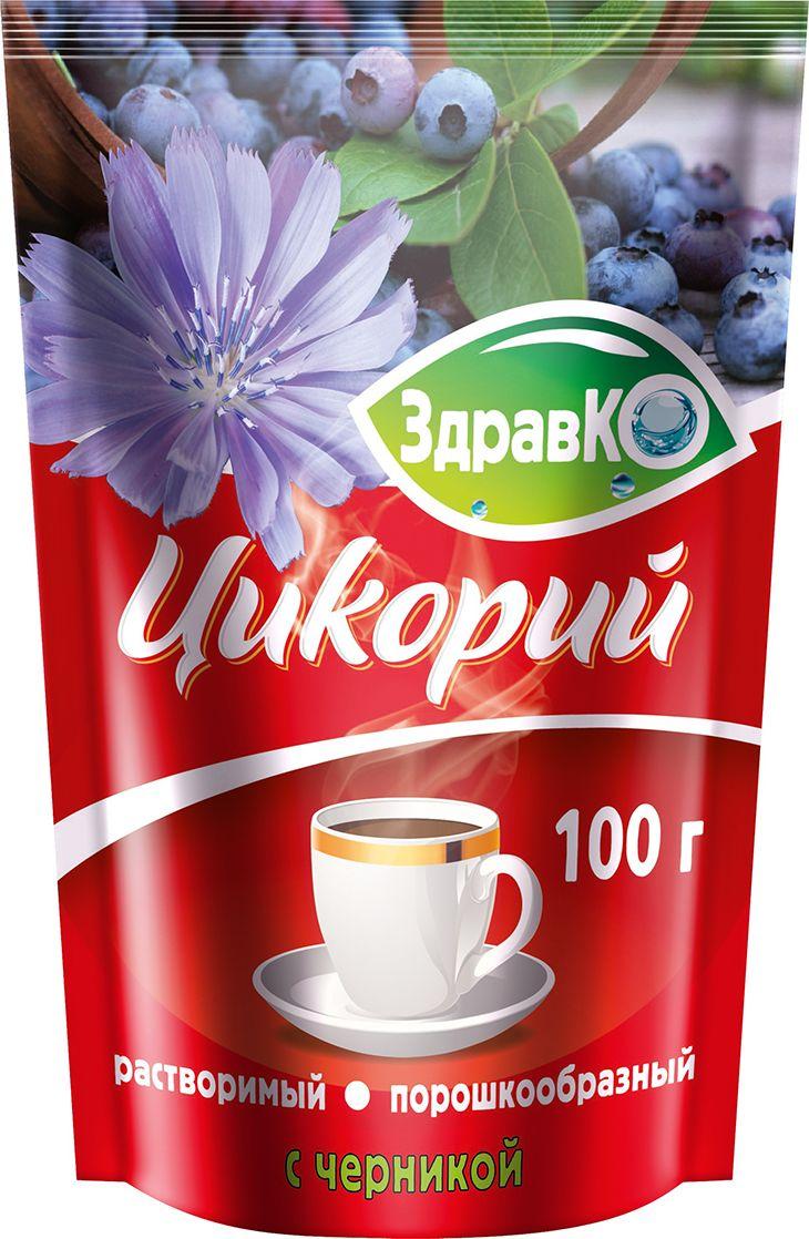 ЗдравКо цикорий растворимый с черникой, 100 г