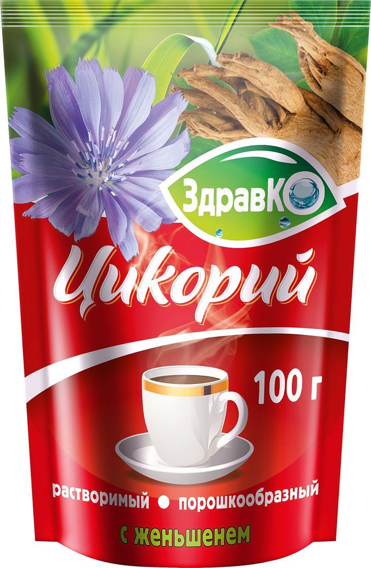 ЗдравКо цикорий растворимый c женьшенем, 100 г