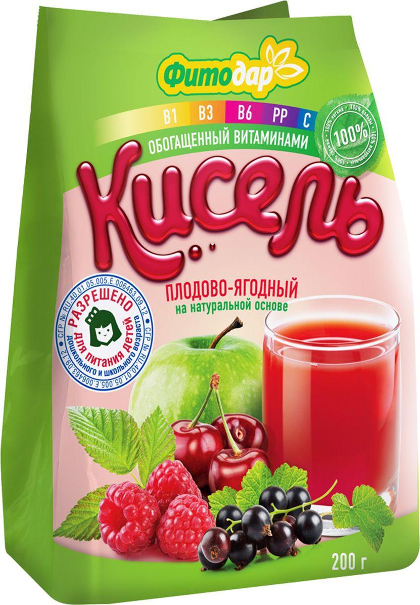 Фитодар кисель плодово-ягодный на натуральной основе витаминизированный, 200 г