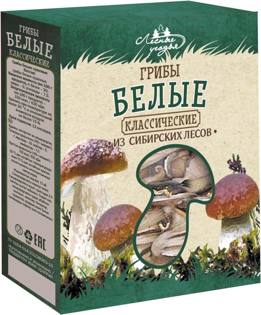 Лесные Угодья грибы сушеные белые классические, 45 г00000039189Белые грибы Лесные угодья из сибирских лесов. Белые грибы - высококачественный ценный продукт питания. Они содержат большое количество витаминов и микроэлементов, необходимых для организма человека. Грибы упакованы в пластиковый пакет и картонную коробку, что позволяет сохранить их аромат и свежесть.