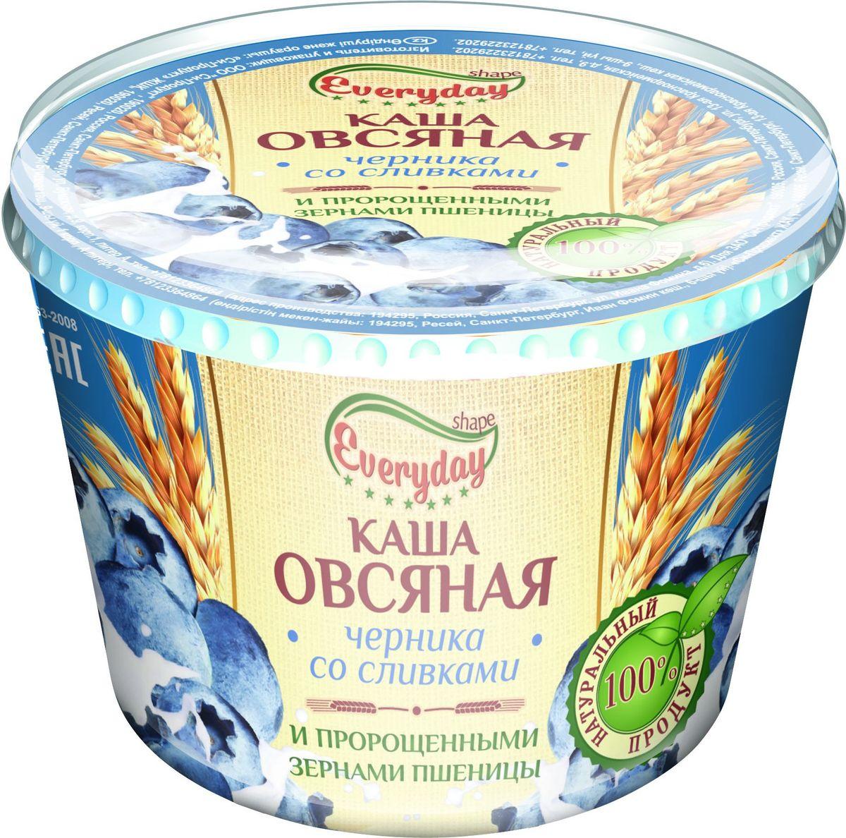 Everyday Каша овсяная черника со сливками, 43 г