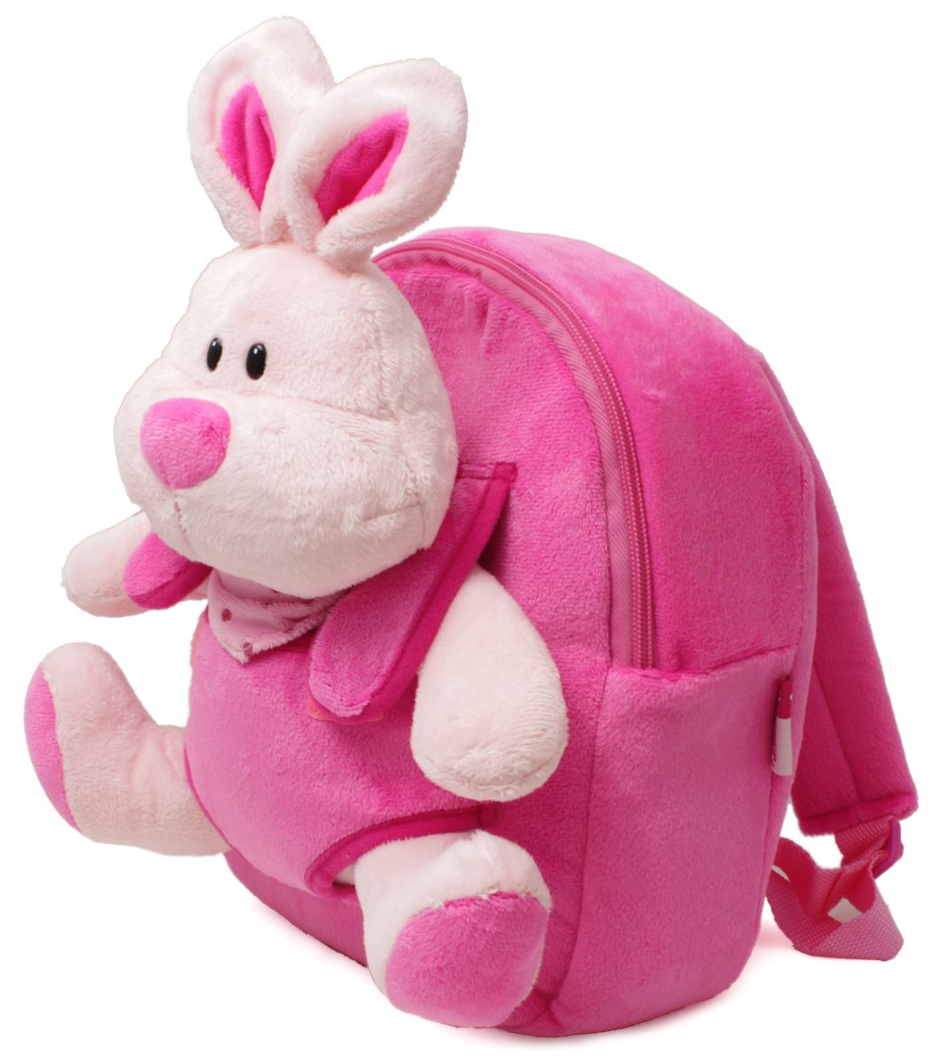 Феникс+ Рюкзак дошкольный Плюшевый зайка40092Дошкольный рюкзак Феникс+ имеет одно большое отделение на застежке-молнии.Рюкзак оснащен ручкой для переноски в руках и лямками регулируемой длины. На лицевой стороне рюкзака находится съемная мягкая игрушка в виде зайчика.Такой рюкзак идеально подойдет для хранения важных вещей, которые так необходимы детям на детской площадке, во время прогулки или на пикнике.