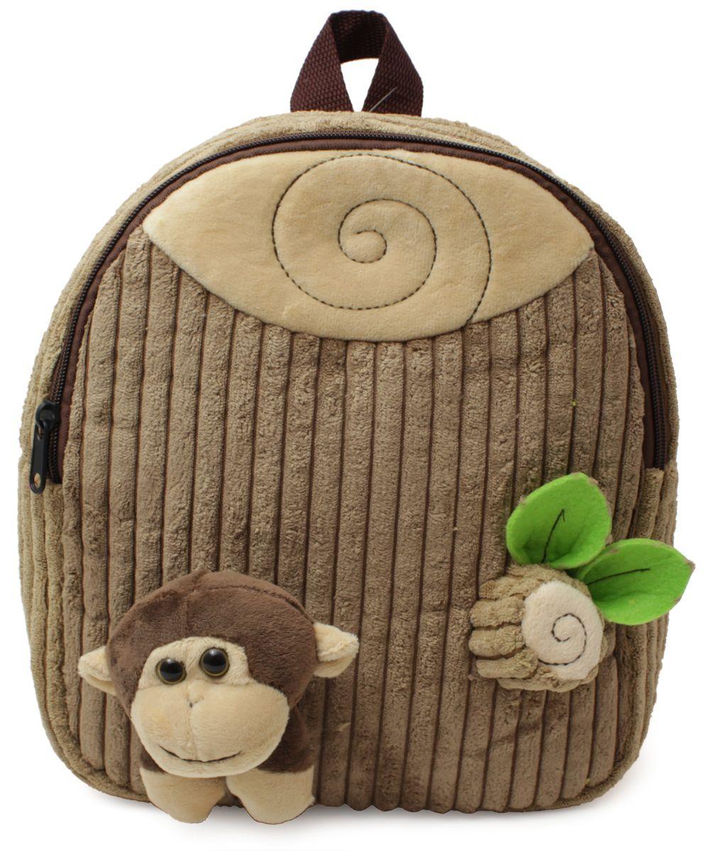 Феникс+ Рюкзак дошкольный Обезьянка43453Дошкольный рюкзак Феникс+ имеет одно большое отделение на застежке-молнии.Рюкзак оснащен ручкой для переноски в руках и лямками регулируемой длины. Лицевая сторона рюкзака украшена объемными игрушками-аппликациями.Такой рюкзак идеально подойдет для хранения важных вещей, которые так необходимы детям на детской площадке, во время прогулки или на пикнике.