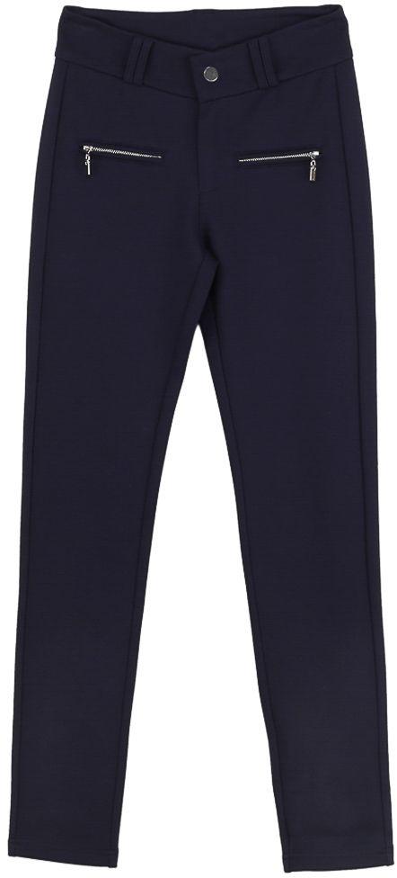 Брюки для девочки Vitacci, цвет: синий. 2171217-04. Размер 1522171217-04Классические брюки стрейч Vitacci выполнены из вискозы и нейлона с добавлением эластана. Модель застегивается на гульфик с молнией и пуговицу. Пояс дополнен шлевками для ремня. Спереди расположены два врезных кармана на молнии.