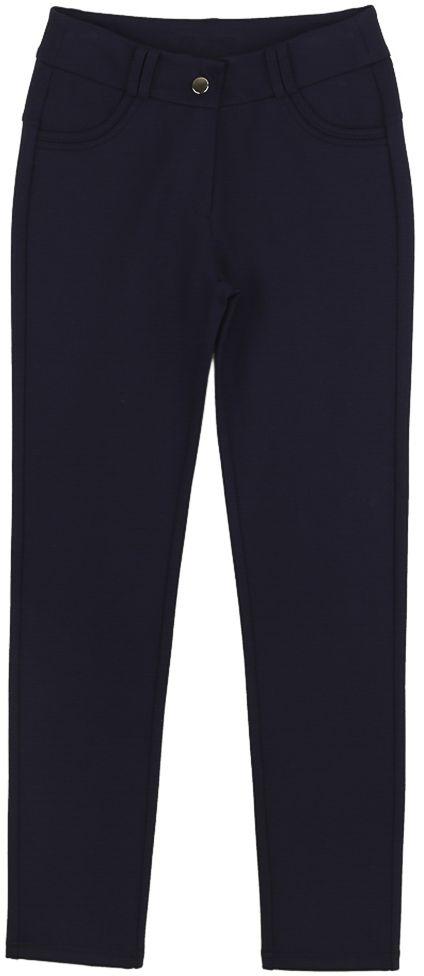 Брюки для девочки Vitacci, цвет: синий. 2171218-04. Размер 1462171218-04Классические брюки стрейч Vitacci выполнены из вискозы и нейлона с добавлением эластана. Модель застегивается на гульфик с молнией и пуговицу. Поя дополнен шлевками для ремня. Спереди расположены два втачных кармана.