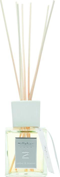 Диффузор ароматический Millefiori Milano Zona Янтарь и благовония / Amber And Incense, 250 мл41DDAIАроматический диффузор Millefiori Milano Zona наполнит ваш дом неповторимым ароматом. Ароматизатор произведен из натуральных компонентов и является образцом качественного и безопасного продукта для дома.Ароматический диффузор с палочками - это простое, изящное и долговременное решение, как наполнить дом или офис приятным запахом. Просто поместите ротанговые палочки в емкость с ароматической жидкостью. Степень интенсивности запаха может регулироваться объемом ароматической жидкости и количеством палочек.Диффузор - это не просто освежитель воздуха, а элемент декора, который окутает вас своим приятным и нежным ароматом. Описание ароматической композиции:Задержитесь в этом сложном аромате, где драгоценный янтарь гармонирует с экзотическими благовониями и древесными аккордами, для насыщения вашего дома этим эксклюзивным творением. Базовые ноты: Мирра, Мускатный орех, Корица. Средние ноты: Ирис, Ваниль, Амбра. Верхние ноты: Ладан, Сандал, Кедр.Товар сертифицирован.