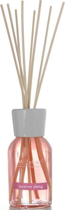 Диффузор ароматический Millefiori Milano Natural Жасмин Иланг-Иланг / Jasmine Ylang, 250 мл7DDJYАроматический диффузор Millefiori Milano Natural наполнит ваш дом неповторимым ароматом жасмина и иланг-иланга. Ароматизатор произведен из натуральных компонентов и является образцом качественного и безопасного продукта для дома. Ароматический диффузор с палочками - это простое, изящное и долговременное решение, как наполнить дом или офис приятным запахом. Просто поместите ротанговые палочки в емкость с ароматической жидкостью. Степень интенсивности запаха может регулироваться объемом ароматической жидкости и количеством палочек. Диффузор - это не просто освежитель воздуха, а элемент декора, который окутает вас своим приятным и нежным ароматом.Описание ароматической композиции: Насыщенный цветочный аромат с верхними нотами драгоценных цветочных букетов и раскрывающимися нижними нотами розового дерева и пачули.Базовые ноты: Жасмин, Иланг-Иланг.Средние ноты: Кардамон, Кашемир, Роза, Герань, Цикламен, Фиалка, Укроп.Верхние ноты: Пачули, Амбра, Ваниль, Розовое дерево. Товар сертифицирован.