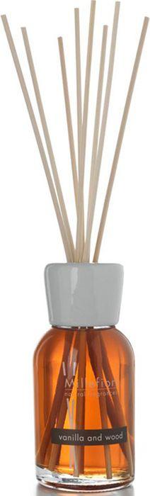 Диффузор ароматический Millefiori Milano Natural Ваниль и дерево / Vanilla & Wood, 100 мл7MDDVАроматический диффузор Millefiori Milano Natural наполнит вашдом неповторимым ароматом ванили и дерева. Ароматизаторпроизведен из натуральных компонентов и являетсяобразцом качественного и безопасного продукта для дома. Ароматический диффузор с палочками - это простое, изящноеи долговременное решение, как наполнить дом или офисприятным запахом. Просто поместите ротанговые палочки вемкость с ароматической жидкостью. Степень интенсивностизапаха может регулироваться объемом ароматическойжидкости и количеством палочек.Диффузор - это не просто освежитель воздуха, а элементдекора, который окутает вас своим приятным и нежнымароматом. Описание ароматической композиции:Сладкие ноты ванили, усиленные нотами леса и сандаловогодерева. Базовые ноты: Горький апельсин, Бергамот, Маслопарагвайского апельсина, Жасмин. Средние ноты: Ягоды ванили из Мадагаскара, Семенаморкови. Верхние ноты: Марокканское кедровое дерево, Черноедерево, Сандаловое дерево, Жженый солод, Флорентийскийирис.Товар сертифицирован.