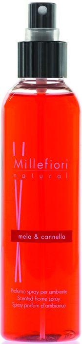 Духи-спрей для дома Millefiori Milano Natural Яблоко и корица / Mela & Canela, 150 мл7SRMCДухи-спрей Millefiori Milano Natural наполнят ваш дом неповторимым ароматом яблока и корицы. Ароматизатор произведен из натуральных компонентов и является образцом качественного и безопасного продукта для дома. Духи-спрей - это простое и долговременное решение, как наполнить дом или офис приятным запахом. Описание ароматической композиции: пряная корица, сладкие и фруктовые ноты зеленого яблока.Базовые ноты: Зеленое яблоко.Средние ноты: Листья корицы, Мускатный орех, Гвоздика.Верхние ноты: Американский кедр, Ваниль, Мадагаскарские ягоды. Товар сертифицирован.
