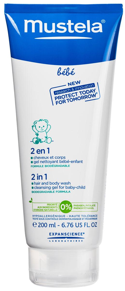 MUSTELA BEBE Гель для купания 2 в 1 (для нормальной кожи), 200 млМ221/183Гель-шампунь детский 2 в 1 Mustela разработан для мягкого очищения кожи и волос детей с первых дней жизни. Разработан для минимизации рисков аллергических реакций.Благодаря формуле, обогащенной запатентованным природным компонентом Avocado Perseose, способствует укреплению кожного барьера малыша и сохранению клеточных ресурсов его кожиМягко и эффективно очищает кожу и волосы малыша с первых дней жизни.Не содержит мыла.Hе щиплет глаза.Без парабенов, фталатов, феноксиэтанола.Приоритет отдается ингредиентам природного происхожденияБиоразлагаемая формула.