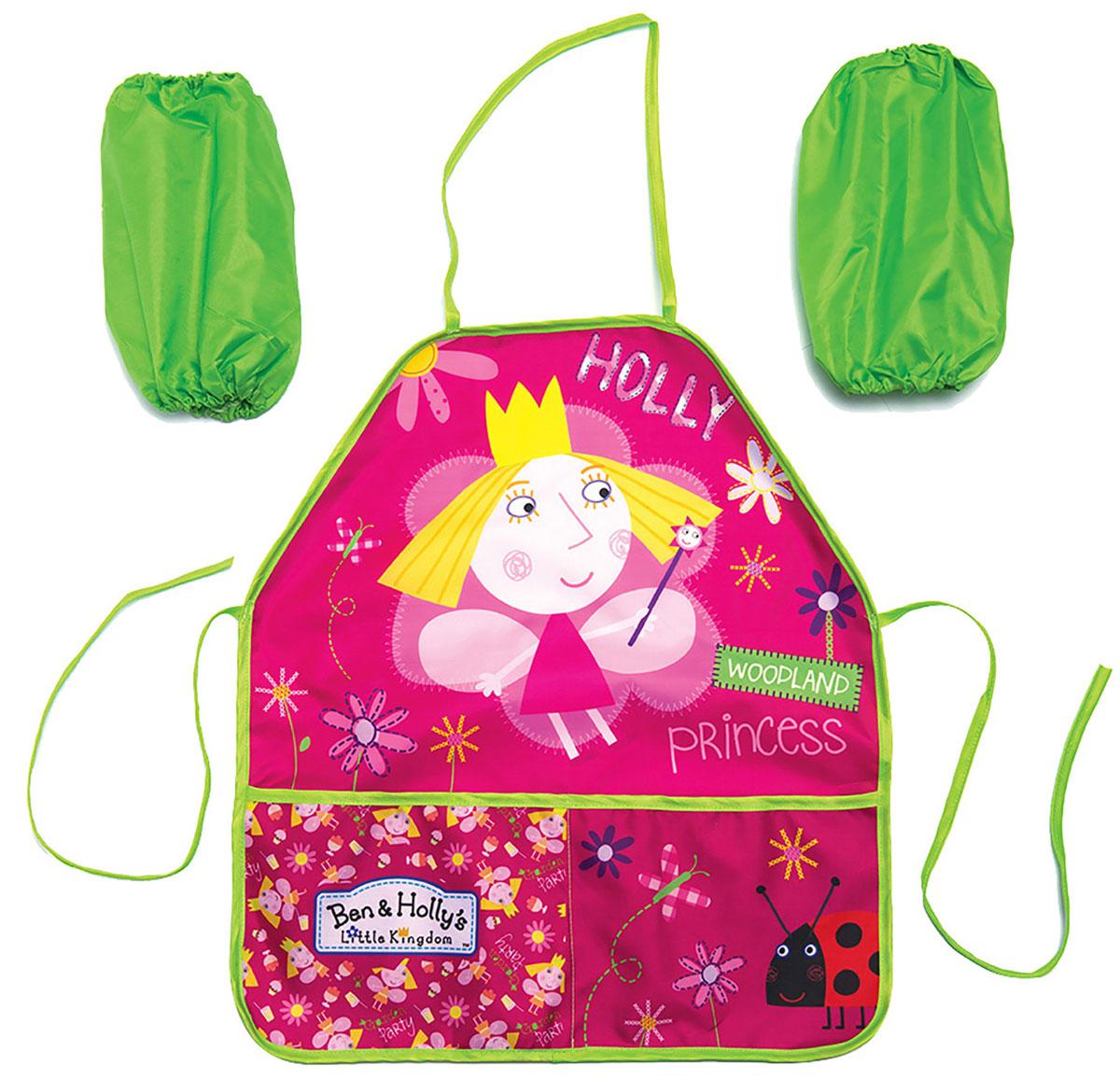 Ben&Holly Фартук детский с нарукавниками Бен и Холли цвет розовый светло-зеленый -  Аксессуары для труда
