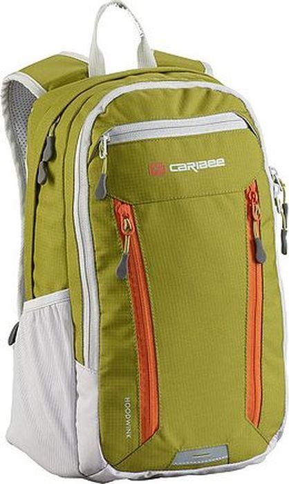 Рюкзак Caribee Hoodwink, цвет: салатовый, белый, 16 л60551Компактный городской рюкзак Caribee Hoodwink оснащен несколькими отделениями и мягкой системой подвески. Передние карманы на молнии отлично подойдут для телефона и для ключей.Особенности модели:- спинка рюкзака имеет удобное строение и мягкую обивку,- лямки S-образной формы можно адаптировать под рост за счет подвесной системы,- материал устойчив к перепадам температуры и света, ультрафиолета и влаги.