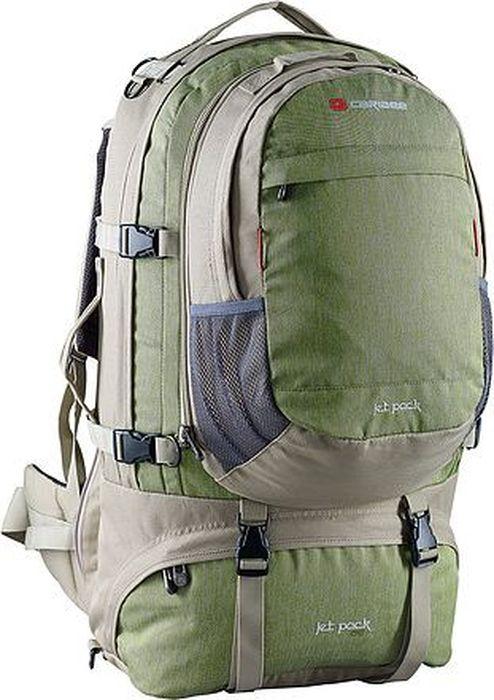 Рюкзак для путешествий Caribee Jet Pack, цвет: оливковый, 75 л рюкзак с анатомической спинкой caribee x trek 28 28 л черный оранжевый 6382