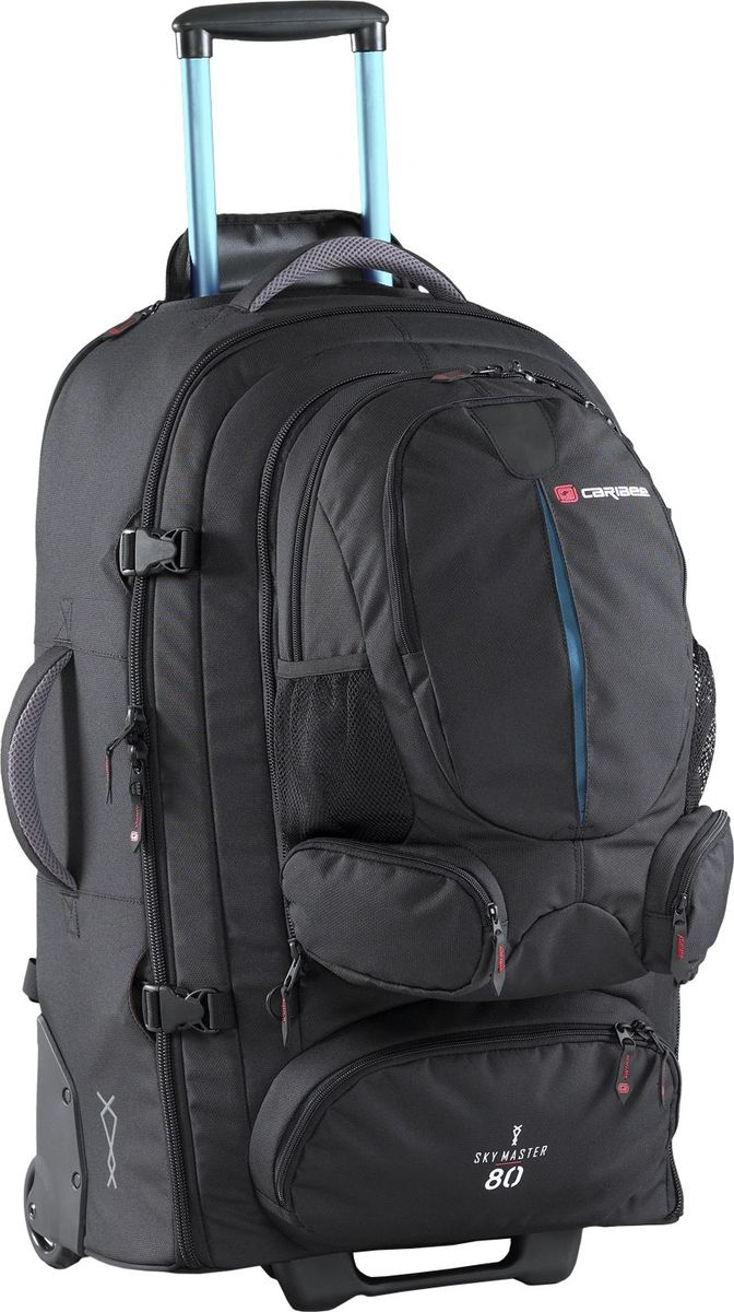 Рюкзак для путешествий Caribee Sky Master, на колесах, с выдвижной ручкой, 80 л