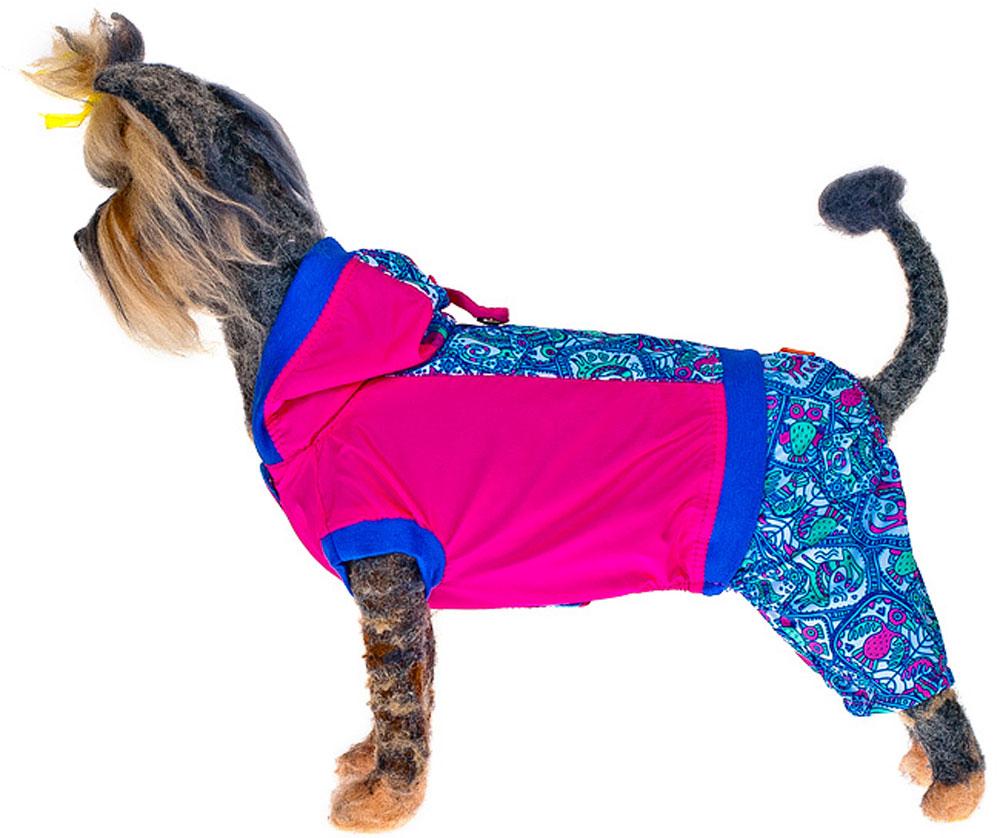 Комбинезон для собак Happy Puppy Фортуна, унисекс, цвет: розовый. Размер XL