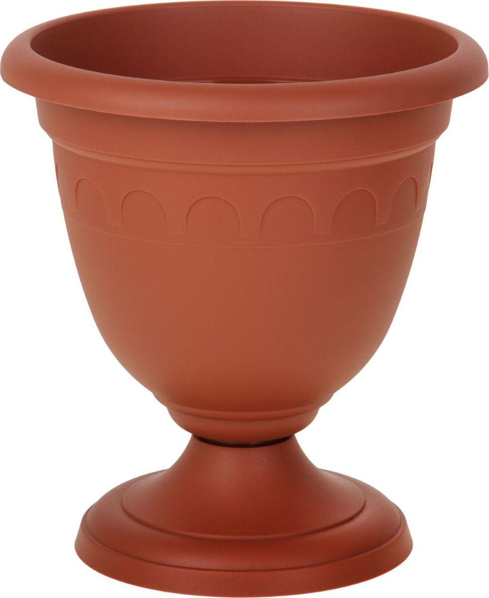 Вазон Martika Колывань, цвет: терракотовый, 8,1 лMRC136TЛюбой, даже самый современный и продуманный интерьер будет не завершённым без растений. Они не только очищают воздух и насыщают его кислородом, но и заметно украшают окружающее пространство. Такому полезному &laquo члену семьи&raquoпросто необходимо красивое и функциональное кашпо, оригинальный горшок или необычная ваза! Мы предлагаем - Вазон высокий Колывань 8,1 л d=30 см, цвет терракотовый!Оптимальный выбор материала &mdash &nbsp пластмасса! Почему мы так считаем? Малый вес. С лёгкостью переносите горшки и кашпо с места на место, ставьте их на столики или полки, подвешивайте под потолок, не беспокоясь о нагрузке. Простота ухода. Пластиковые изделия не нуждаются в специальных условиях хранения. Их&nbsp легко чистить &mdashдостаточно просто сполоснуть тёплой водой. Никаких царапин. Пластиковые кашпо не царапают и не загрязняют поверхности, на которых стоят. Пластик дольше хранит влагу, а значит &mdashрастение реже нуждается в поливе. Пластмасса не пропускает воздух &mdashкорневой системе растения не грозят резкие перепады температур. Огромный выбор форм, декора и расцветок &mdashвы без труда подберёте что-то, что идеально впишется в уже существующий интерьер.Соблюдая нехитрые правила ухода, вы можете заметно продлить срок службы горшков, вазонов и кашпо из пластика: всегда учитывайте размер кроны и корневой системы растения (при разрастании большое растение способно повредить маленький горшок)берегите изделие от воздействия прямых солнечных лучей, чтобы кашпо и горшки не выцветалидержите кашпо и горшки из пластика подальше от нагревающихся поверхностей.Создавайте прекрасные цветочные композиции, выращивайте рассаду или необычные растения, а низкие цены позволят вам не ограничивать себя в выборе.