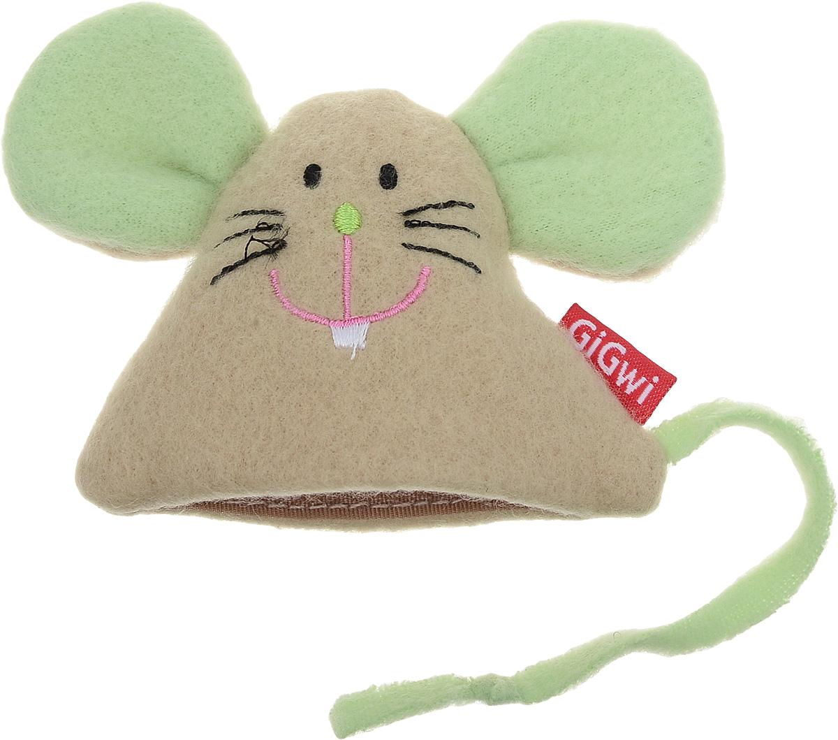 Игрушка для кошек GiGwi Мышка, с кошачьей мятой, 9 х 8,5 см электронная игрушка для кошек gigwi pet droid фезер воблер