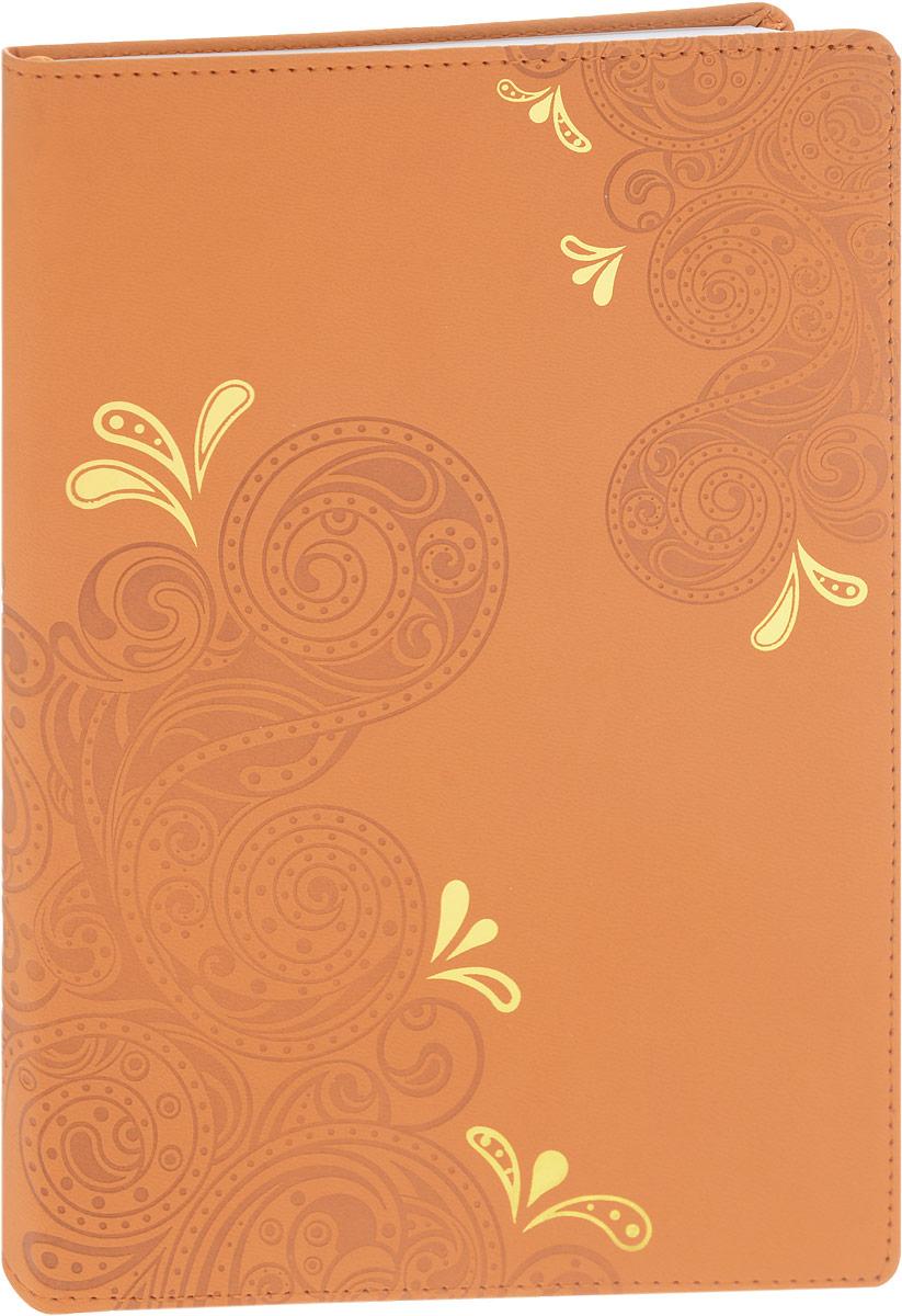 Brauberg Бизнес-блокнот Orient 128 листов в клетку цвет оранжевый125236_оранжевыйБизнес-блокнот Brauberg Orient - незаменимый атрибут современного человека, необходимый для рабочих и повседневных записей в офисе и дома.Обложка блокнота выполнена из износоустойчивой искусственной кожи, прошитой по периметру. Блокнот с закругленными уголками содержит 128 листов формата А5 с разметкой в клетку. Имеет закладку-ляссе.Бизнес-блокнот станет достойным аксессуаром среди ваших канцелярских принадлежностей. Такой блокнот пригодится как для деловых людей, так и для любителей записывать свои мысли, писать мемуары или делать наброски новых стихотворений.