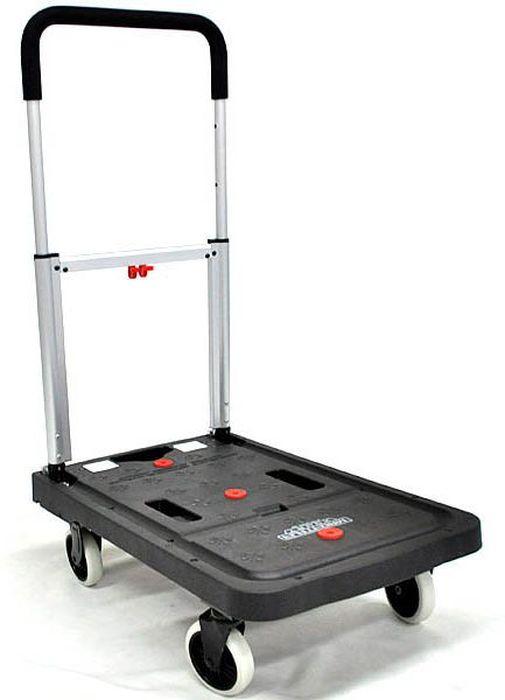 Тележка платформенная Стелла FF-S, 41 х 68 х 96 смFF-SПлатформенная складная тележка FF-S предназначена для перевозки грузов весом до 138 кг. Изготовлена из алюминия, стали и пластика. Собственный вес тележки 6,7 кг. Тележка удобна в хранении. Габаритный размер платформы 40,9 х 68,1 см. Разложить конструкцию можно очень быстро и без лишних усилий. Рукоятка платформенной тележки FF-S покрыта пластиком для удобства пользователя и имеет высоту 95,6 см. Поворотные колеса обеспечивают тележке маневренность на любой поверхности. Основные преимущества складной платформенной тележки FF-S: - Малые габариты и вес;- Привлекательный дизайн;- Удобство в хранении и транспортировке;- Высокая грузоподъемность.