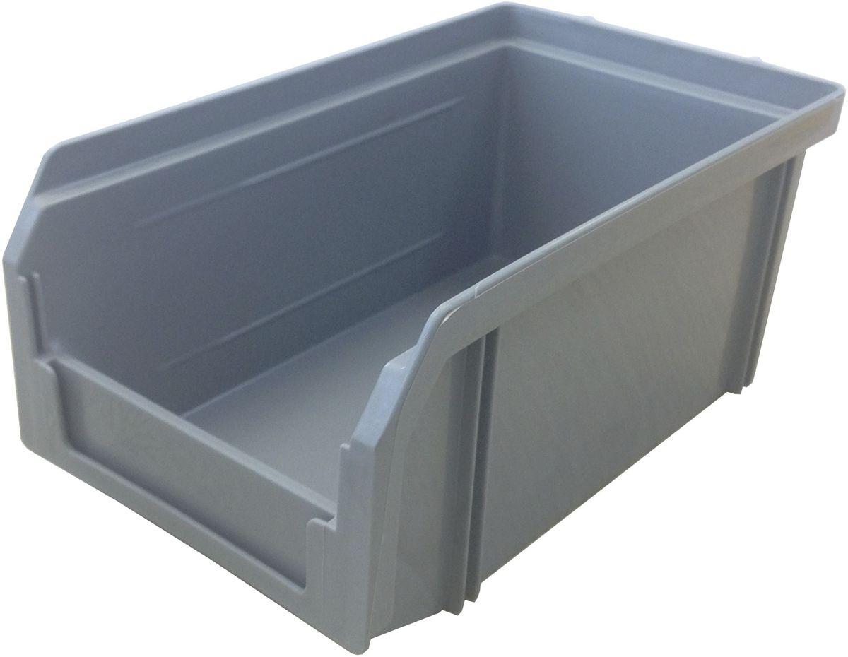 Ящик пластиковый Стелла V-1, цвет: серый, 17,1 х 10,2 х 7,5 смV-1 серыйПластиковый ящик Стелла V-1 широко применяется для организации мест хранения мелких деталей, различных комплектующих и запасных частей различных узлов и агрегатов. Передняя стенка имеет возможность наращивания для увеличения объема ящика. Специальный карман на лицевой части позволяет размещать ярлык с описанием ассортимента хранящихся мелочей для более быстрого поиска необходимого контейнера.Особенности:Объем 1 литр. Специальные рукоятки для захвата и перемещения. Возможность установки до 30 ящиков в высоту. Материал изделия - ударопрочный пластик.