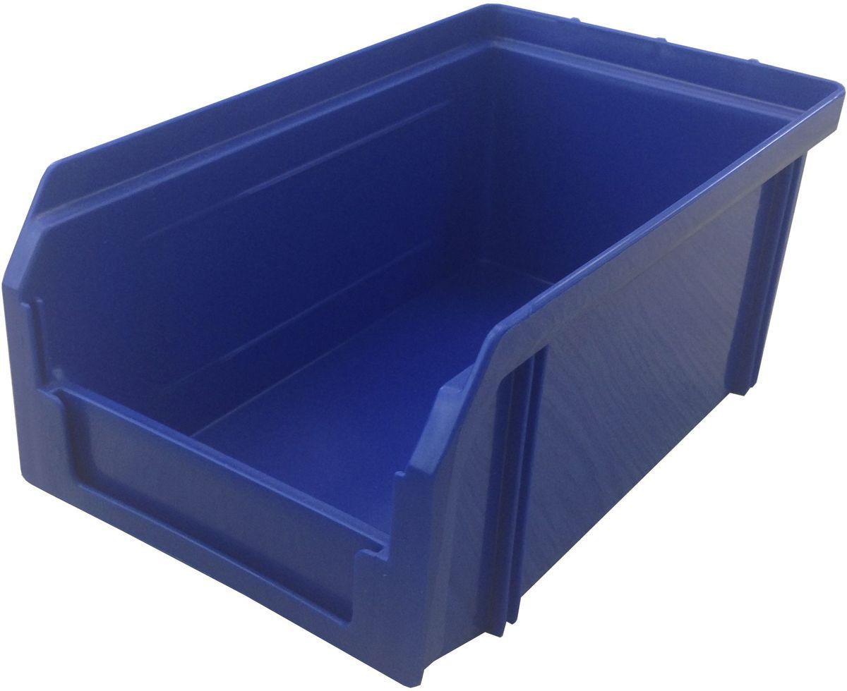Ящик пластиковый Стелла V-1, цвет: синий, 17,1 х 10,2 х 7,5 смV-1 синийПластиковый ящик Стелла V-1 широко применяется для организации мест хранения мелких деталей, различных комплектующих и запасных частей различных узлов и агрегатов. Передняя стенка имеет возможность наращивания для увеличения объема ящика. Специальный карман на лицевой части позволяет размещать ярлык с описанием ассортимента хранящихся мелочей для более быстрого поиска необходимого контейнера.Особенности:Объем 1 литр. Специальные рукоятки для захвата и перемещения. Возможность установки до 30 ящиков в высоту. Материал изделия - ударопрочный пластик.