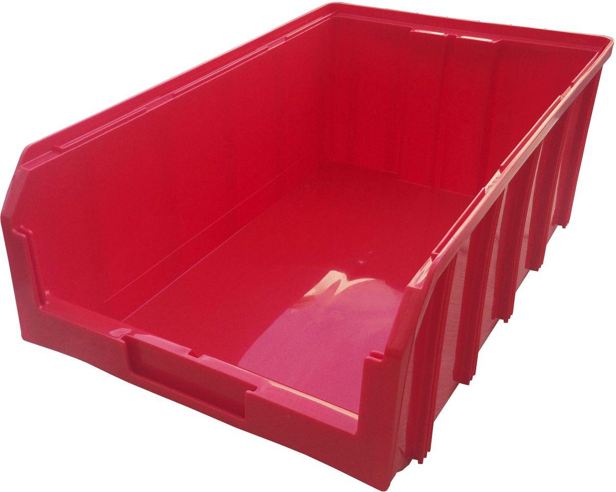 Ящик пластиковый Стелла V-4, цвет: красный, 50,2 х 30,5 х 18,6 смV-4 красныйПластиковый ящик Стелла V-4 подходит для хранения мелких предметов, таких как: запчасти, детали, заготовки и многого другого. Контейнер имеет удобную форму. Возможность наращивания передней стенки позволит наполнить ящик до верха и вместить гораздо большее количество деталей. Для быстрого и удобного поиска контейнера в складском помещении на передней стенке предусмотрен карман для размещения ярлыка с описанием. Изделие имеет удобные ручки для перемещения и специальные крепления для наращивания нескольких ящиков в высоту. Объем составляет 20 литров, корпус выполнен из пластика.