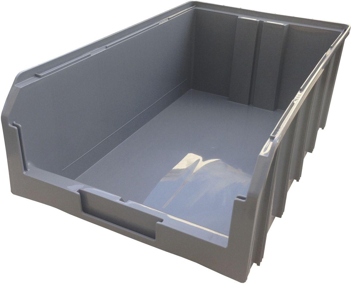 Ящик пластиковый Стелла V-4, цвет: серый, 50,2 х 30,5 х 18,6 смV-4 серыйПластиковый ящик Стелла V-4 подходит для хранения мелких предметов, таких как: запчасти, детали, заготовки и многого другого. Контейнер имеет удобную форму. Возможность наращивания передней стенки позволит наполнить ящик до верха и вместить гораздо большее количество деталей. Для быстрого и удобного поиска контейнера в складском помещении на передней стенке предусмотрен карман для размещения ярлыка с описанием. Изделие имеет удобные ручки для перемещения и специальные крепления для наращивания нескольких ящиков в высоту. Объем составляет 20 литров, корпус выполнен из пластика.