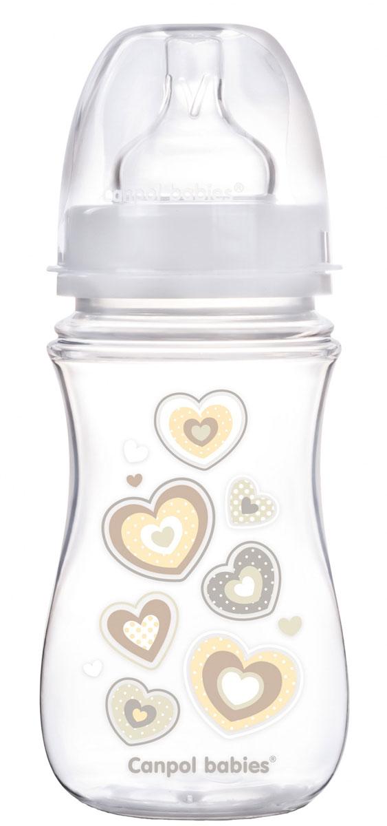 Canpol Babies Бутылочка антиколиковая EasyStart от 3 месяцев цвет белый 240 мл canpol babies бутылочка зайка с силиконовой соской от 3 месяцев цвет зеленый 120 мл