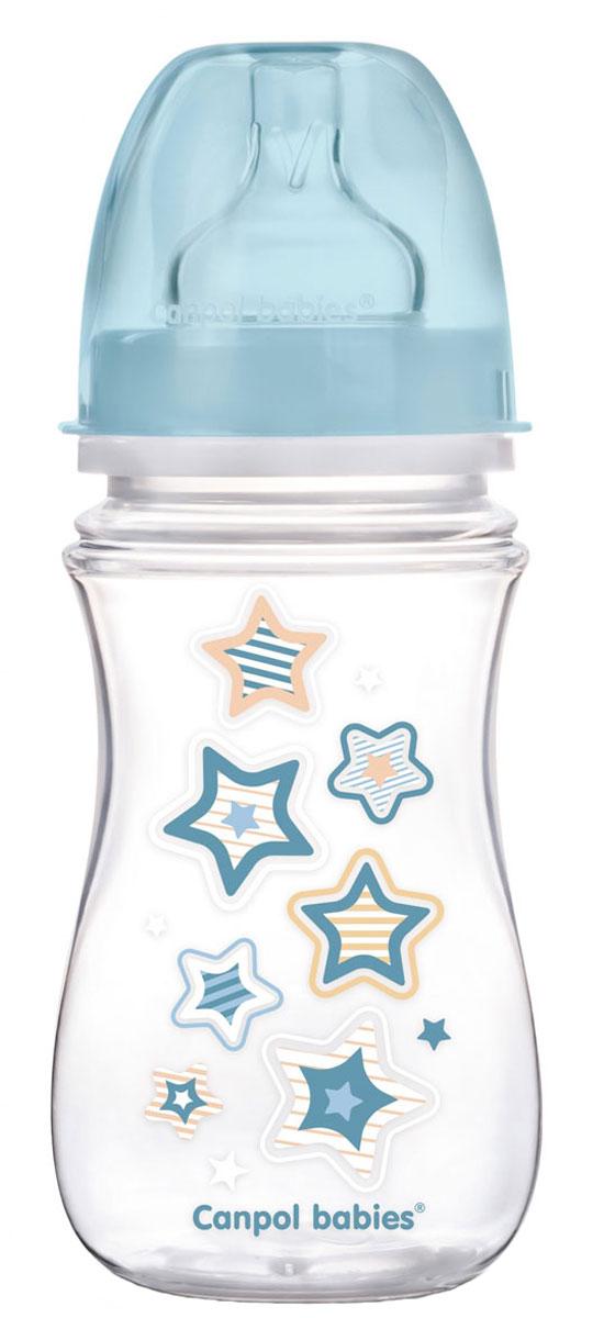 Canpol Babies Бутылочка антиколиковая EasyStart от 3 месяцев цвет голубой 240 мл babies стульчик для кормления h 1 babies panda