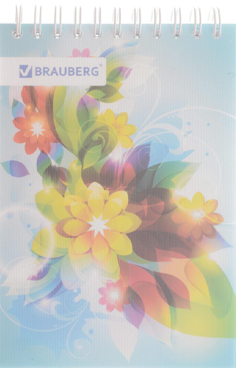 Brauberg Блокнот Чувство 80 листов в клетку цвет голубой125381Стильный блокнот Brauberg для записей и заметок с женственным дизайном. Пластиковая обложка долго сохраняет привлекательный внешний вид и защищает яркий рисунок.Внутренний блок состоит из высококачественного офсета в клетку. Листы блокнота соединены металлическим гребнем.