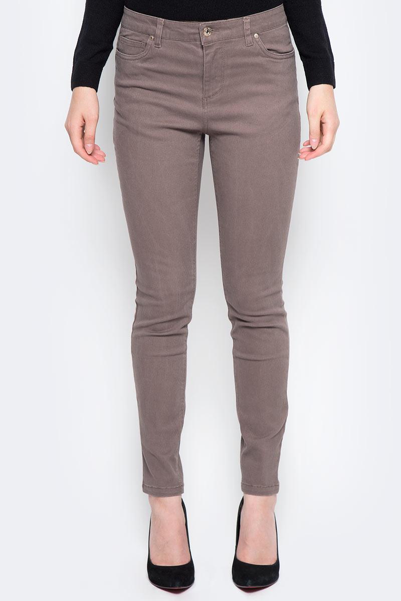 Брюки женские Sela, цвет: какао. P-115/844-7310. Размер 42 женские брюки лэйт светлый размер 42