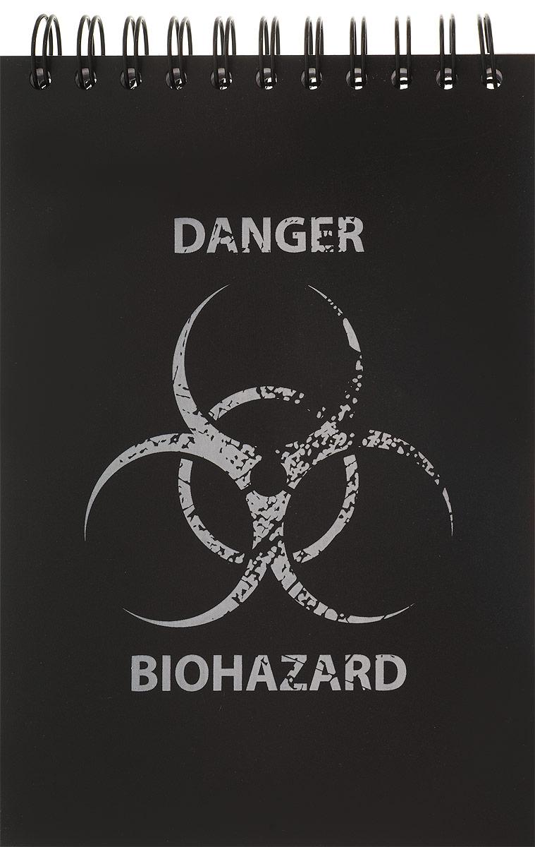 Brauberg Блокнот Экстрим Biohazard 80 листов в клетку125380_biohazardБлокнот Brauberg для записей и заметок с оригинальным молодежным дизайном. Пластиковая обложка долго сохраняет привлекательный внешний вид и защищает листы от повреждения. Обложка выполнена из пластика с эффектом шелкографии.Внутренний блок состоит из высококачественного офсета в клетку. Листы блокнота соединены металлическим гребнем.