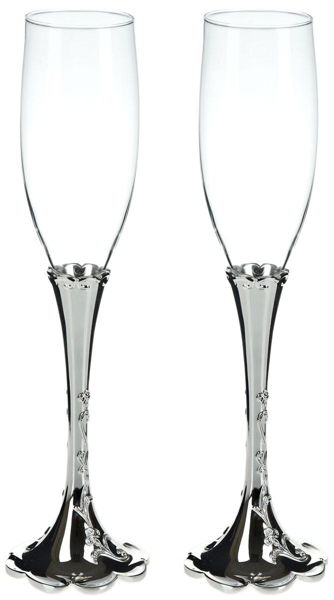 Набор бокалов для шампанского ENS Group Wedding, 2 шт. 52900165290016Набор ENS Group Wedding состоит из двух бокалов для шампанского, выполненных из высококачественного стекла. Изделия обладают кристальной прозрачностью, отличаются долговечностью и прочностью.Бокалы имеют специальную форму чаши, благодаря которой пузырьки не улетучиваются, а значит можно долго наслаждаться напитком. Налитое в такой бокал шампанское полностью раскрывает свой изысканный вкус и неповторимый аромат. Диаметр: 5 см.Высота: 27,5 см.