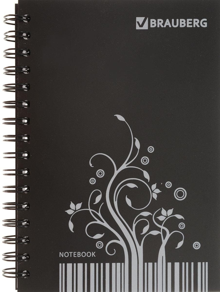 Brauberg Блокнот Штрихкод 80 листов в клетку125403Блокнот Brauberg со стильным белым рисунком на черной пластиковой обложке подчеркивает индивидуальность владельца и долго сохраняет привлекательный внешний вид.Внутренний блок состоит из высококачественного офсета в клетку. Листы блокнота соединены металлическим гребнем.
