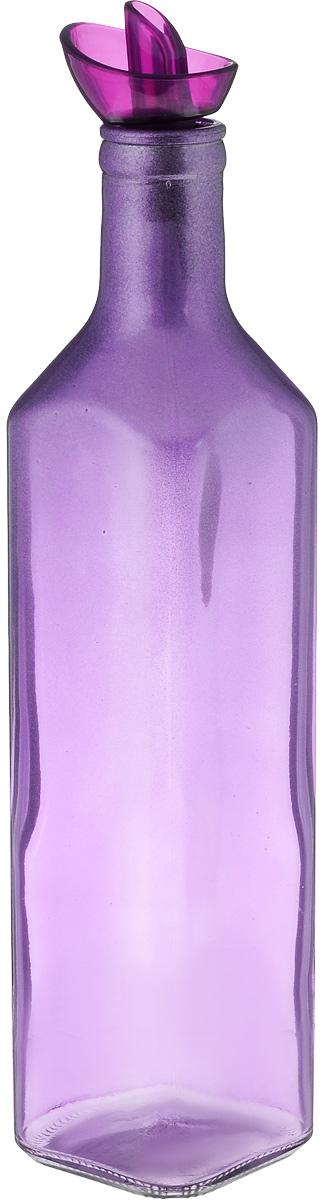 Емкость для масла Solmazer, цвет: фиолетовый, 500 мл155132-000Емкость для масла Solmazer будет отлично смотреться на вашей кухне.Изделие выполнено из стекла и покрыто пластиковой эмалью.Емкость оснащена крышкой.Оригинальная бутылка будет отлично смотреться на вашей кухне и станет отличным подарком.Высота емкости (с учетом крышки): 26,5 см.