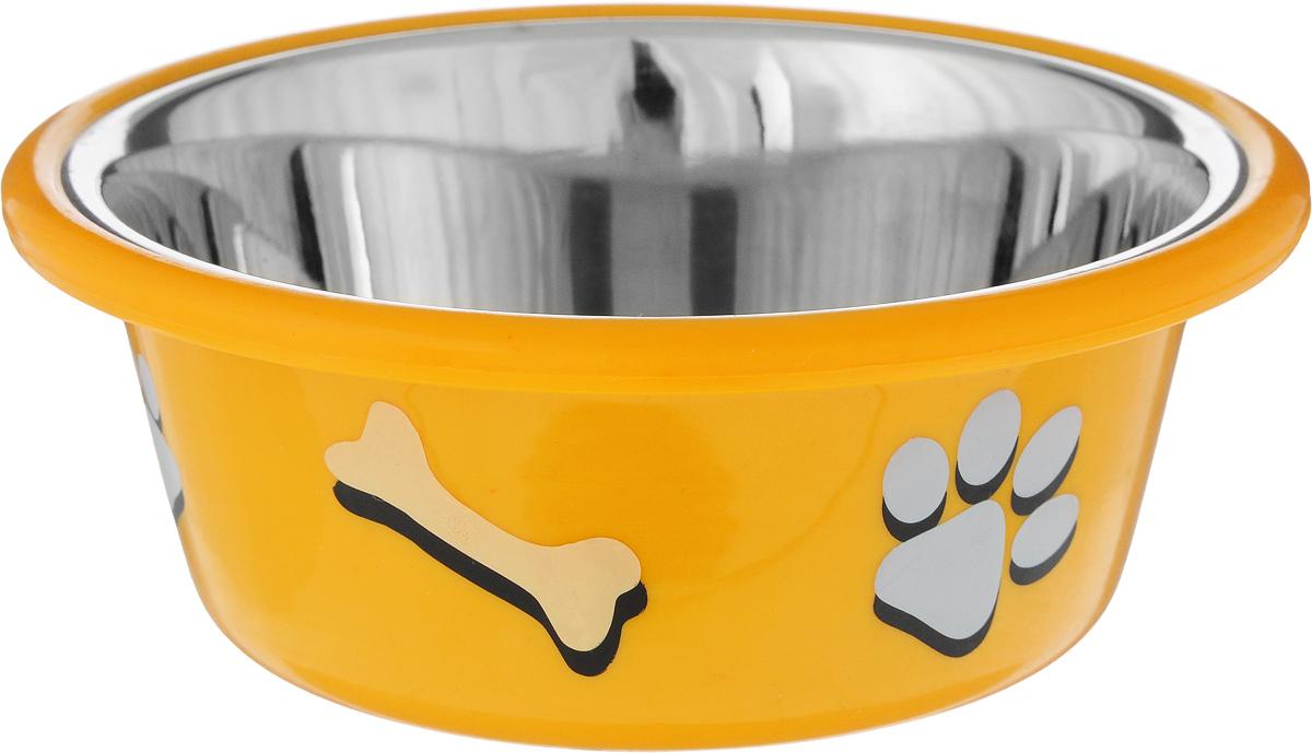 Миска для животных  Nobby , цвет: оранжевый, 400 мл