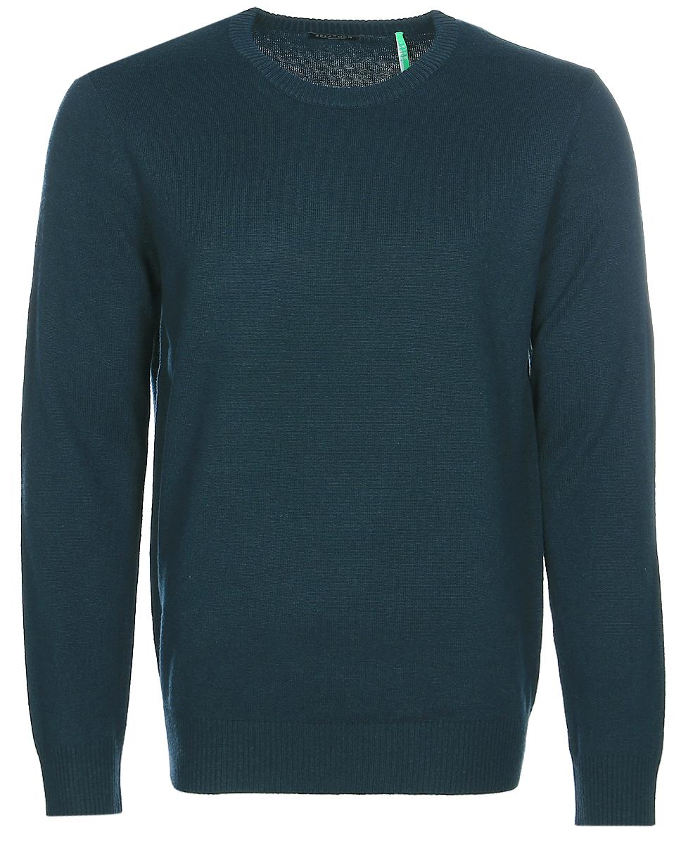 Джемпер мужской Sela, цвет: зеленый. JR-214/270-7340. Размер M (48)