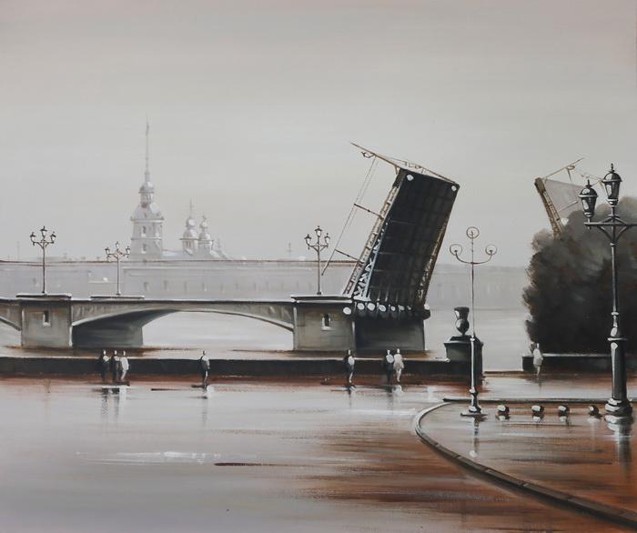 Картина Дворцовый мост. Холст, масло. 50х60 см cisa12011 60 50 в москве