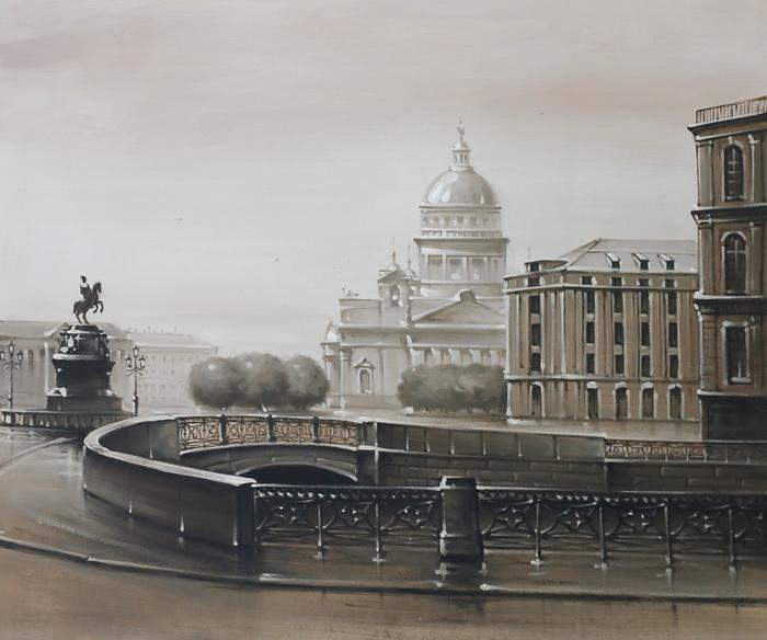 Картина Вид от Синего моста. Холст, масло. 50х60 см cisa12011 60 50 в москве