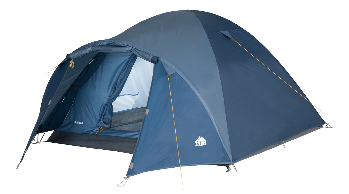 Палатка четырехместная Trek Planet Palermo 4, цвет: синий палатка trek planet vermont 4