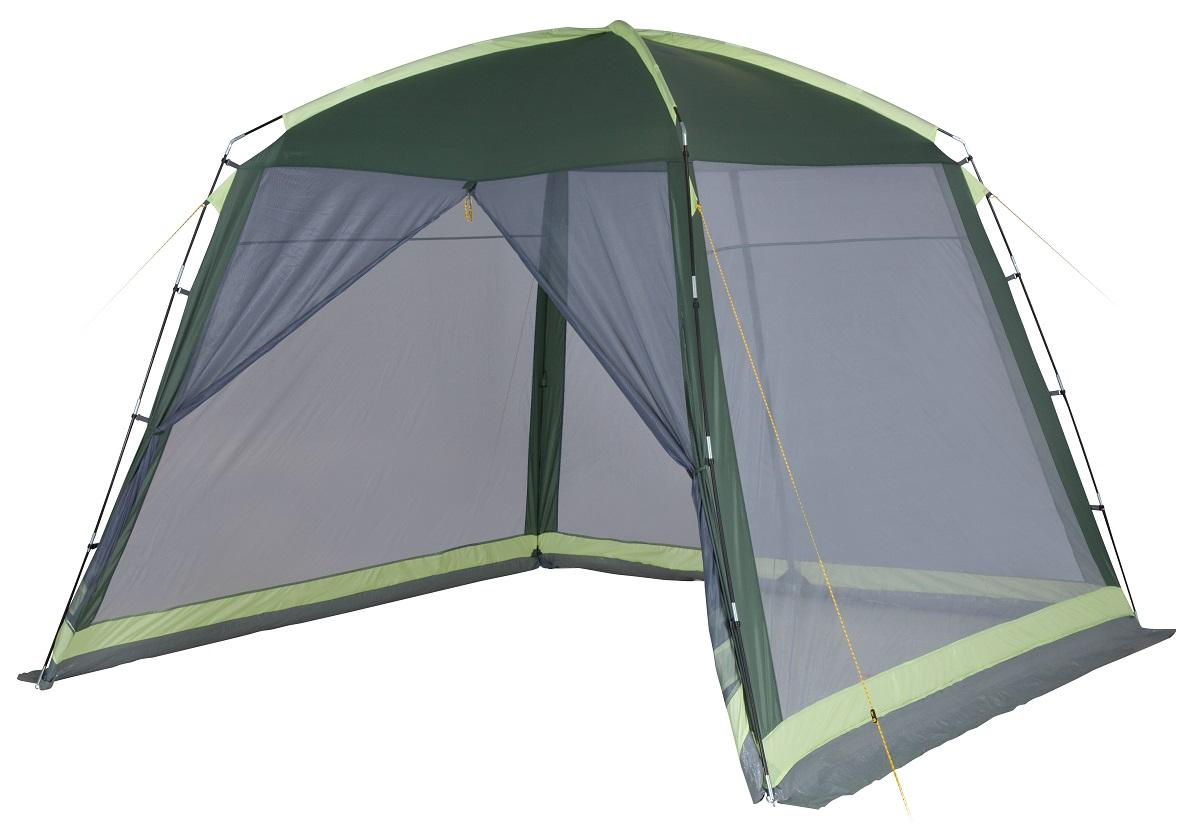 Шатер-тент TREK PLANET BARBEQUE DOME, 305 см х 305 см х 218 см, цвет: зеленый, светло-зеленый шатер тент trek planet siesta шестиугольной формы 460 см х 400 см х 210 см цвет синий голубой
